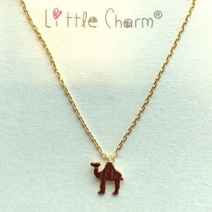 Gold Dipped Mini Camel Charm Necklace
